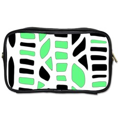 Light Green Decor Toiletries Bags 2 Side