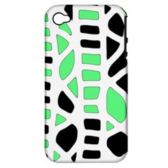 Light Green Decor Apple Iphone 4/4s Hardshell Case (pc+silicone) by Valentinaart