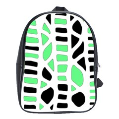 Light Green Decor School Bags (xl)  by Valentinaart
