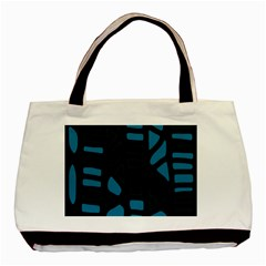 Deep Blue Decor Basic Tote Bag (two Sides) by Valentinaart
