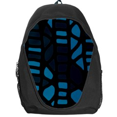 Deep Blue Decor Backpack Bag by Valentinaart