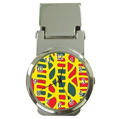 Yellow, Green And Red Decor Money Clip Watches by Valentinaart
