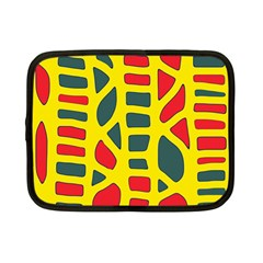 Yellow, Green And Red Decor Netbook Case (small)  by Valentinaart