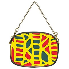 Yellow, Green And Red Decor Chain Purses (two Sides)  by Valentinaart