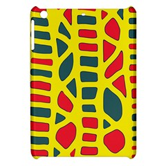 Yellow, Green And Red Decor Apple Ipad Mini Hardshell Case by Valentinaart