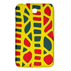 Yellow, Green And Red Decor Samsung Galaxy Tab 3 (7 ) P3200 Hardshell Case