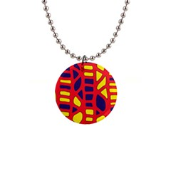 Red, Yellow And Blue Decor Button Necklaces by Valentinaart