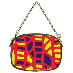 Red, Yellow And Blue Decor Chain Purses (two Sides)  by Valentinaart