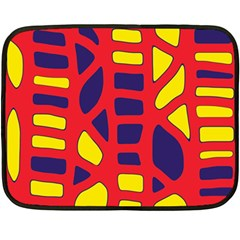 Red, Yellow And Blue Decor Double Sided Fleece Blanket (mini)  by Valentinaart