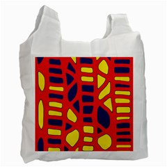 Red, Yellow And Blue Decor Recycle Bag (two Side)  by Valentinaart