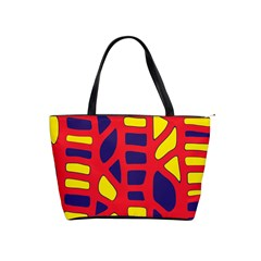 Red, Yellow And Blue Decor Shoulder Handbags by Valentinaart