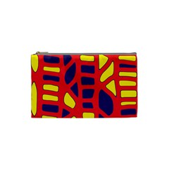 Red, Yellow And Blue Decor Cosmetic Bag (small)  by Valentinaart
