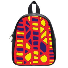 Red, Yellow And Blue Decor School Bags (small)