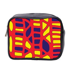 Red, Yellow And Blue Decor Mini Toiletries Bag 2 Side by Valentinaart