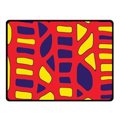 Red, Yellow And Blue Decor Fleece Blanket (small) by Valentinaart