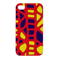 Red, Yellow And Blue Decor Apple Iphone 4/4s Hardshell Case by Valentinaart