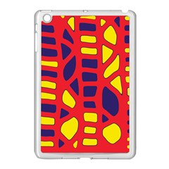 Red, Yellow And Blue Decor Apple Ipad Mini Case (white) by Valentinaart