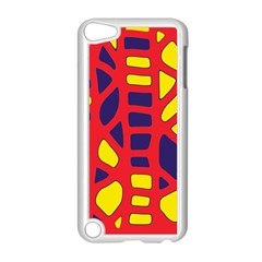 Red, Yellow And Blue Decor Apple Ipod Touch 5 Case (white) by Valentinaart