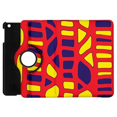Red, Yellow And Blue Decor Apple Ipad Mini Flip 360 Case by Valentinaart