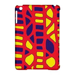 Red, Yellow And Blue Decor Apple Ipad Mini Hardshell Case (compatible With Smart Cover) by Valentinaart