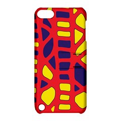 Red, Yellow And Blue Decor Apple Ipod Touch 5 Hardshell Case With Stand by Valentinaart
