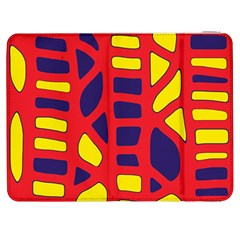 Red, Yellow And Blue Decor Samsung Galaxy Tab 7  P1000 Flip Case by Valentinaart