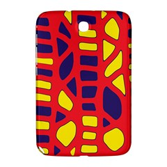 Red, Yellow And Blue Decor Samsung Galaxy Note 8 0 N5100 Hardshell Case  by Valentinaart