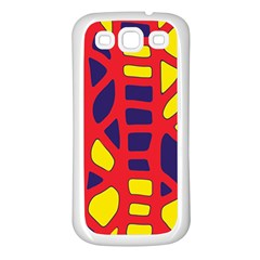 Red, Yellow And Blue Decor Samsung Galaxy S3 Back Case (white) by Valentinaart