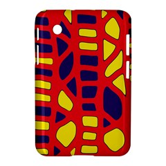 Red, Yellow And Blue Decor Samsung Galaxy Tab 2 (7 ) P3100 Hardshell Case  by Valentinaart