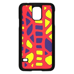 Red, Yellow And Blue Decor Samsung Galaxy S5 Case (black) by Valentinaart