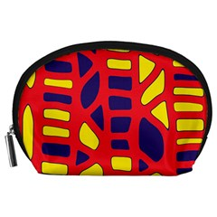 Red, Yellow And Blue Decor Accessory Pouches (large)