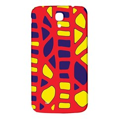 Red, Yellow And Blue Decor Samsung Galaxy Mega I9200 Hardshell Back Case by Valentinaart
