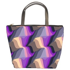 Wavy Pattern                                                                                           	bucket Bag by LalyLauraFLM