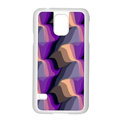 Wavy Pattern                                                                                          			samsung Galaxy S5 Case (white) by LalyLauraFLM
