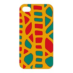 Abstract Decor Apple Iphone 4/4s Premium Hardshell Case by Valentinaart
