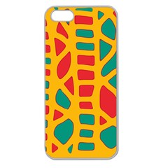 Abstract Decor Apple Seamless Iphone 5 Case (clear) by Valentinaart