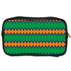 Orange Green Chains                                                                                            Toiletries Bag (two Sides) by LalyLauraFLM