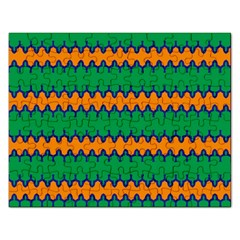 Orange Green Chains                                                                                            			jigsaw Puzzle (rectangular) by LalyLauraFLM