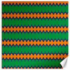 Orange Green Chains                                                                                            			canvas 16  X 16  by LalyLauraFLM