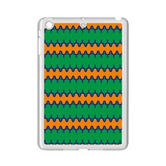Orange Green Chains                                                                                           			apple Ipad Mini 2 Case (white) by LalyLauraFLM
