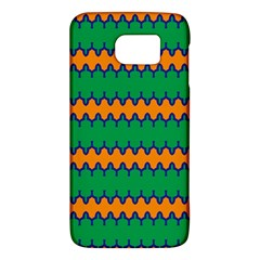 Orange Green Chains                                                                                           			samsung Galaxy S6 Hardshell Case by LalyLauraFLM