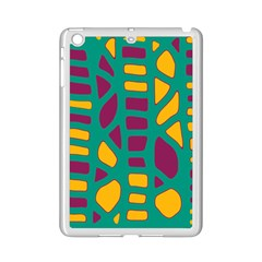 Green, Purple And Yellow Decor Ipad Mini 2 Enamel Coated Cases