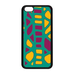 Green, Purple And Yellow Decor Apple Iphone 5c Seamless Case (black) by Valentinaart