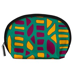 Green, Purple And Yellow Decor Accessory Pouches (large)