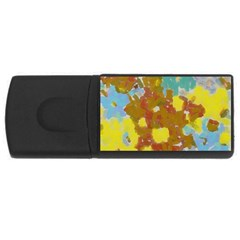 Paint Strokes                                                                                               			usb Flash Drive Rectangular (4 Gb) by LalyLauraFLM