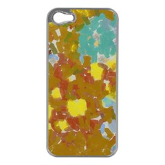 Paint Strokes                                                                                              			apple Iphone 5 Case (silver) by LalyLauraFLM