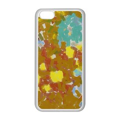 Paint Strokes                                                                                              			apple Iphone 5c Seamless Case (white) by LalyLauraFLM