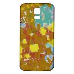 Paint Strokes                                                                                              			samsung Galaxy S5 Back Case (white) by LalyLauraFLM