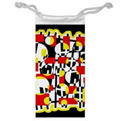 Red And Yellow Chaos Jewelry Bags by Valentinaart