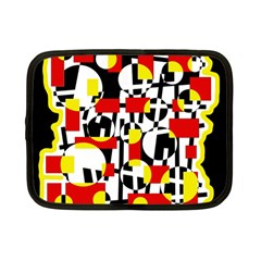 Red And Yellow Chaos Netbook Case (small)